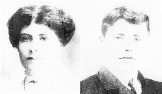 Photo:Charles William Cadge and Alice Cadge, née Lemon, of the Shepherds Cottage, Butlers Farm, Shopland
