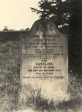 Photo:Gravestone mentioning Gusted Hall