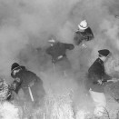 Photo:<b />Farm haystack fire</b>