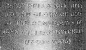 Photo:Inscription on new tenor bell