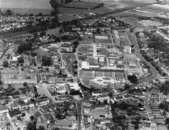 Photo:Aerial View of Hospital site in 1972