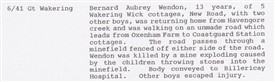 Photo:Extract from an official WW2 incident report