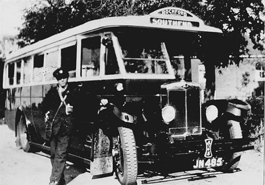 Photo:Photo taken on the top of Ashingdon Hill. The conductor is Bill Banister cousin of Mave Sipple's mother.